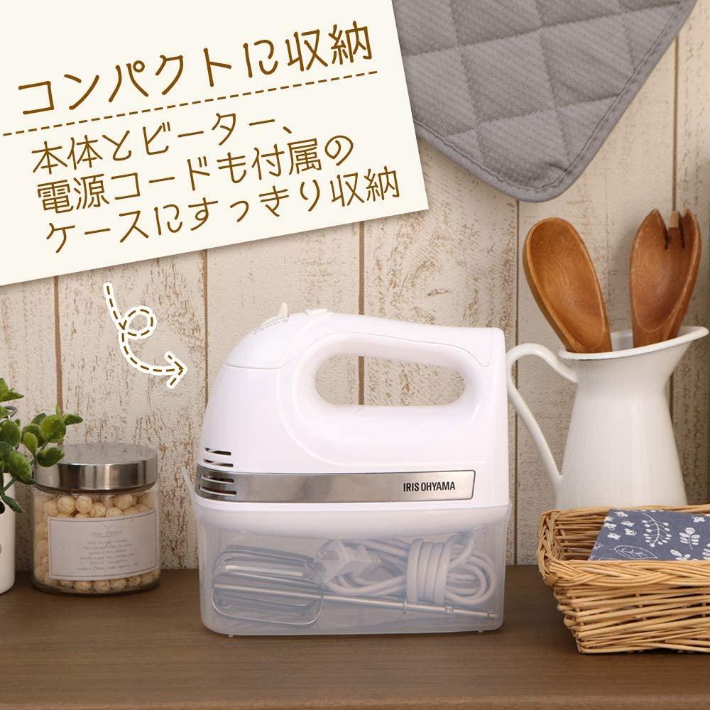 IRIS OHYAMA(アイリスオーヤマ) ハンドミキサー PMK-H01-Wの商品画像6