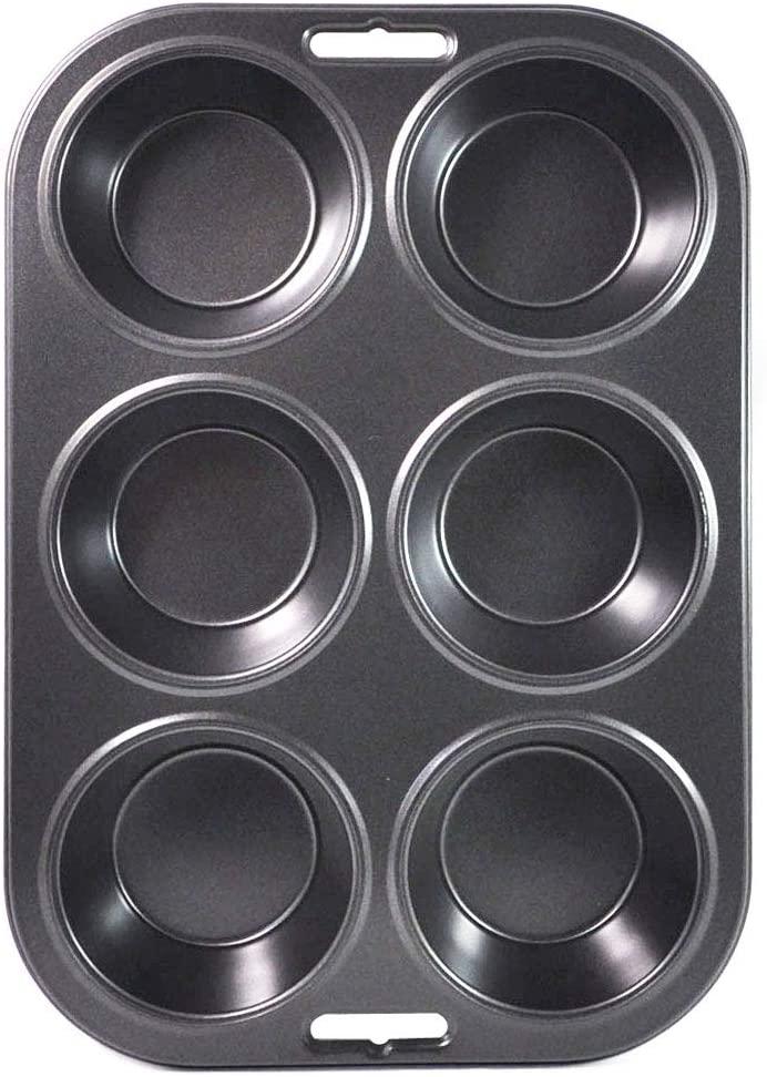 Kai House SELECT(カイハウスセレクト)かわいいマフィンが一度に6個できる焼き型 ブラック DL-6173の商品画像3