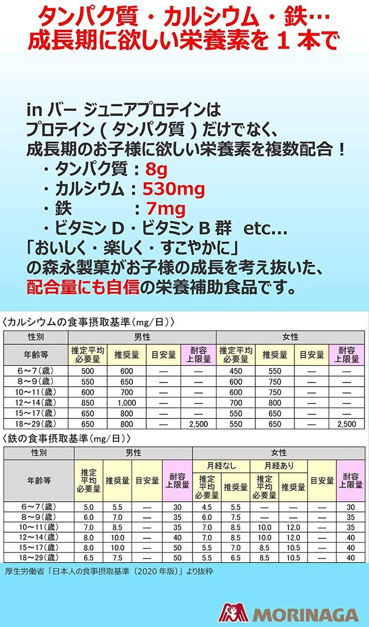森永製菓(MORINAGA) inバー ジュニアプロテインの商品画像4