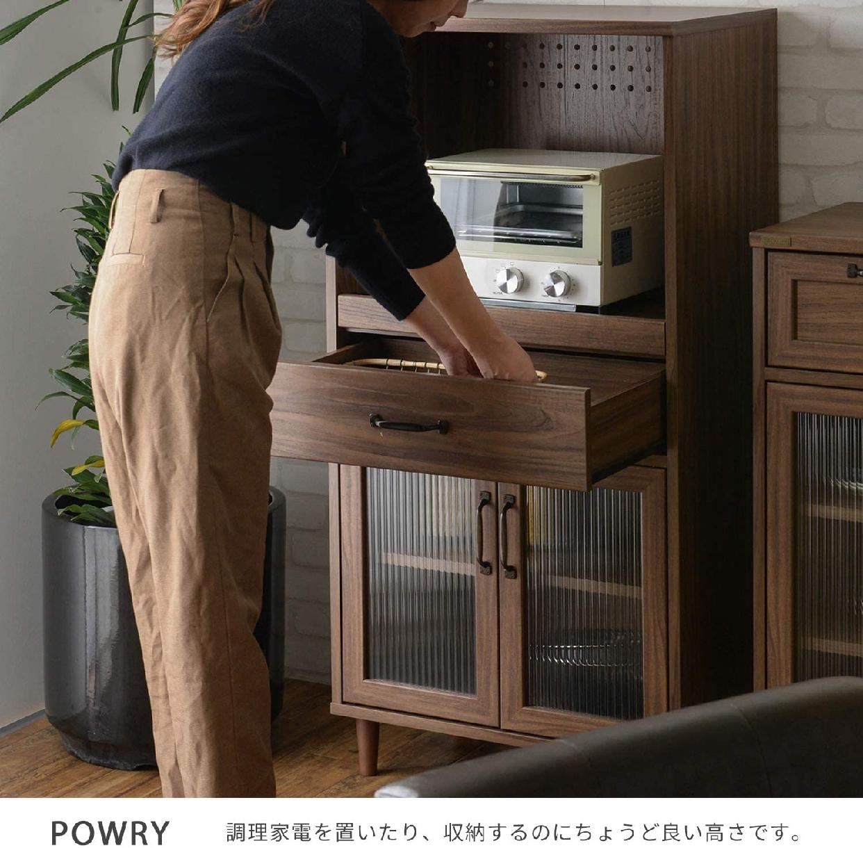 POWRY(ポーリー)レンジ台 ブラウン PW120-60Lの商品画像3