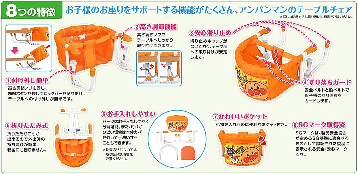 PINOCCHIO(ピノチオ) アンパンマン テーブルチェアーの商品画像4