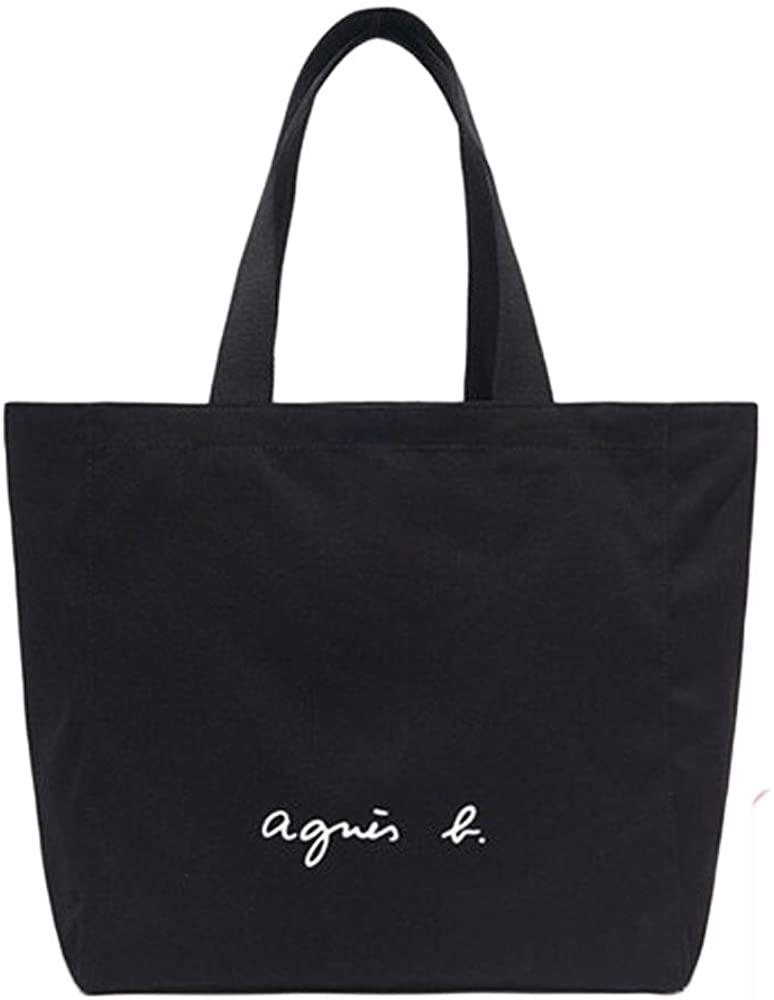 agnes b.(アニエスベー)コットントートバッグ ブラック GO03‐01の商品画像