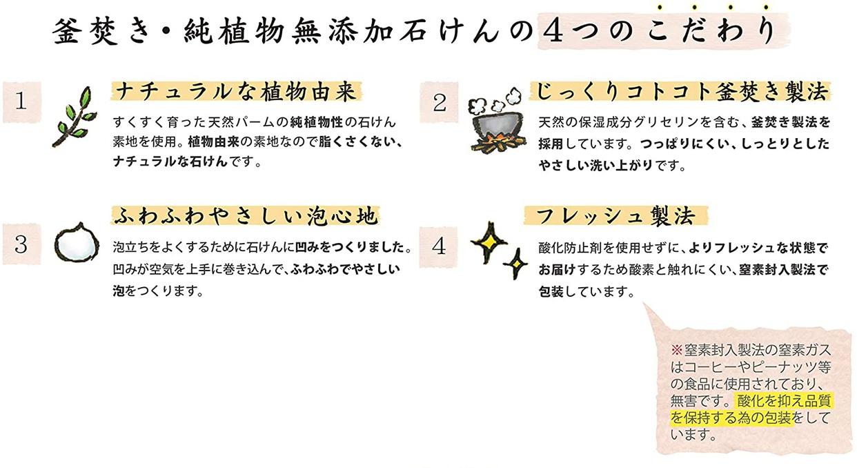 ペリカン石鹸(PELICAN SOAP) 釜焚き・純植物 無添加石けんの商品画像4