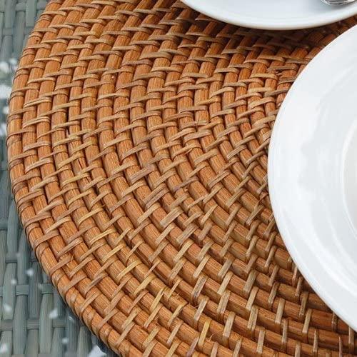 アジア工房(アジアコウボウ)ラタン編みランチョンマット[円形40cmタイプ][7563]の商品画像2