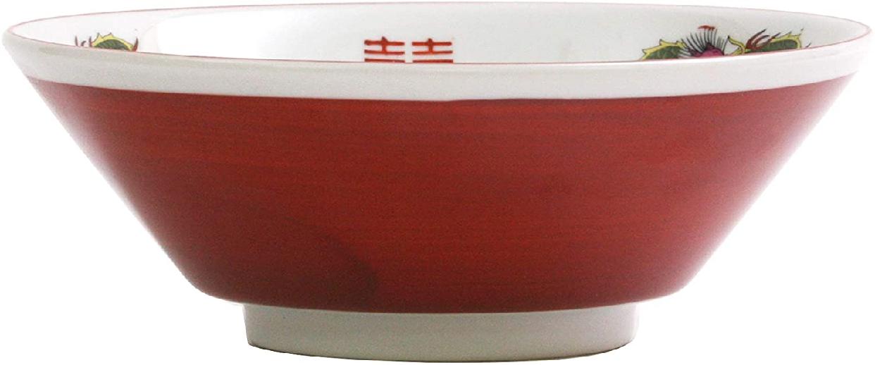 結彩の蔵 赤巻三ツ竜 6.3寸 切立丼 ト682-097 赤の商品画像2