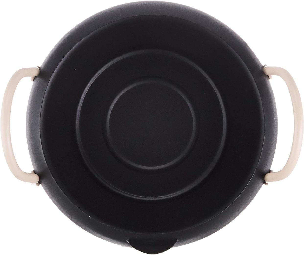パール金属(PEARL) オベ・フラ お弁当用鉄製蓋付両手フライ鍋16cm ブラック HB-283の商品画像3