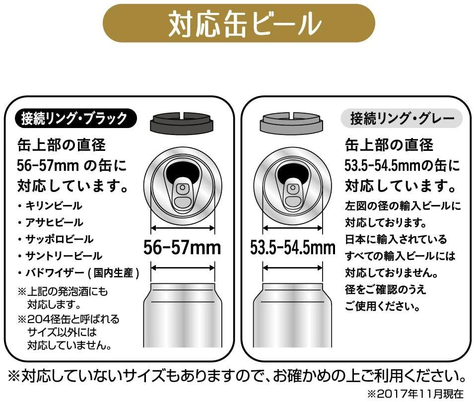 DOSHISHA(ドウシシャ)ビンタイプビアサーバー 絹泡の商品画像7