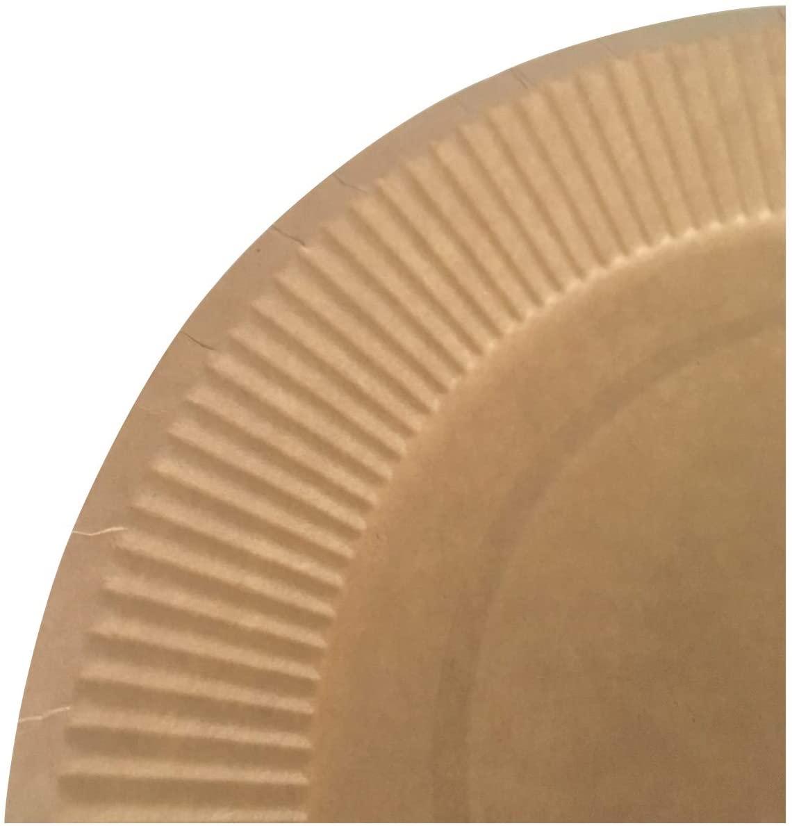 ストリックスデザイン 未晒し ペーパープレート 50枚 茶  SD-103の商品画像6