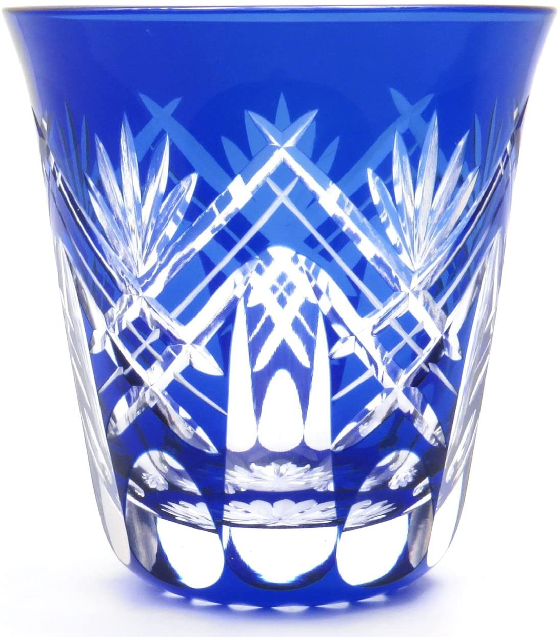 すみだ江戸切子館(すみだえどきりこかん)焼酎グラス (化粧箱入) 重ね剣矢来 (藍) KY-44の商品画像2