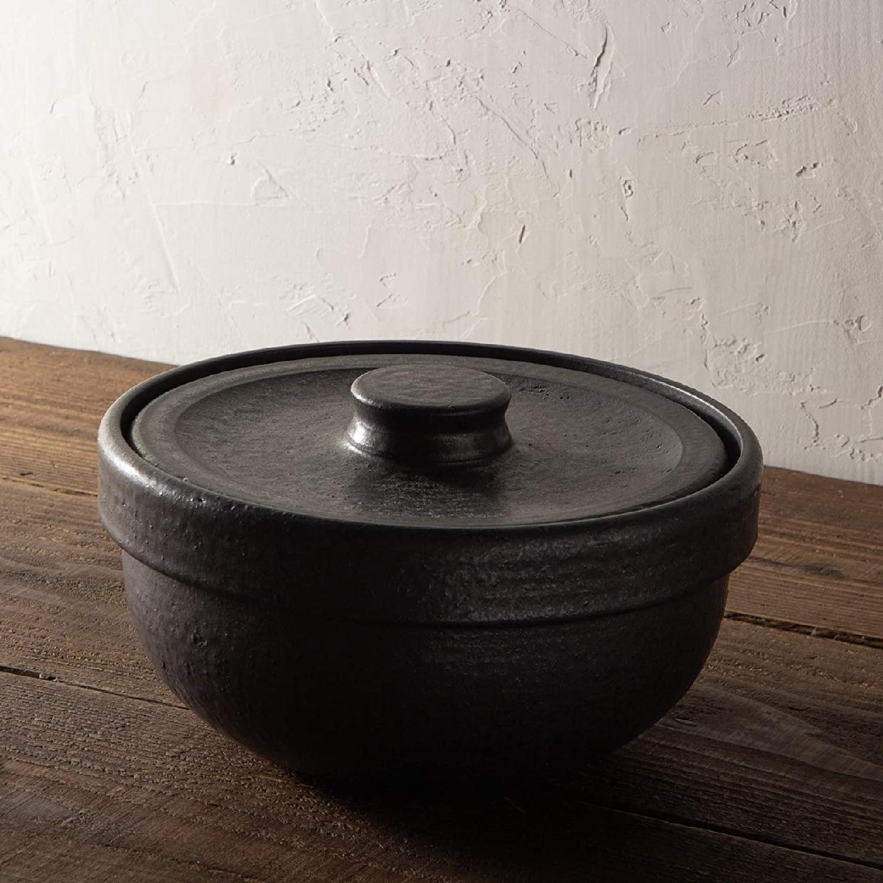 男厨 無水土鍋 ブラック NAZ-01の商品画像2