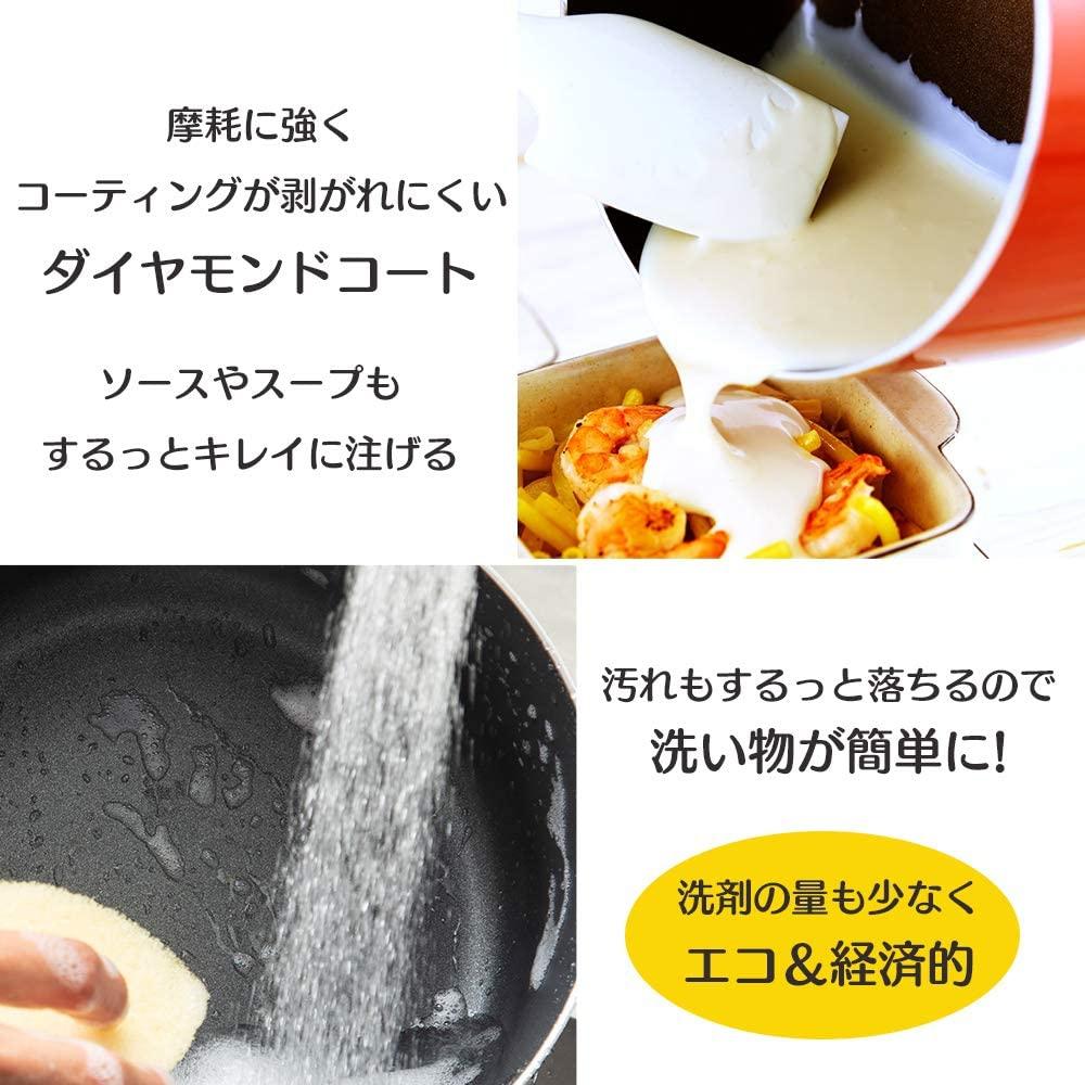 KITCHEN CHEF(キッチンシェフ)ダイヤモンドコート 片手鍋 18cm DIS-P18の商品画像3