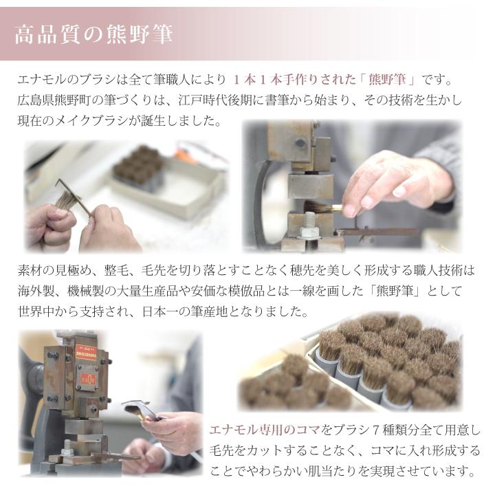 Enamor(エナモル) メイクブラシ7本&ブラシケースセットの商品画像3