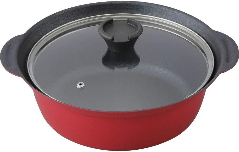 プラザセレクト卓上鍋 20cm レッド DTP-20の商品画像