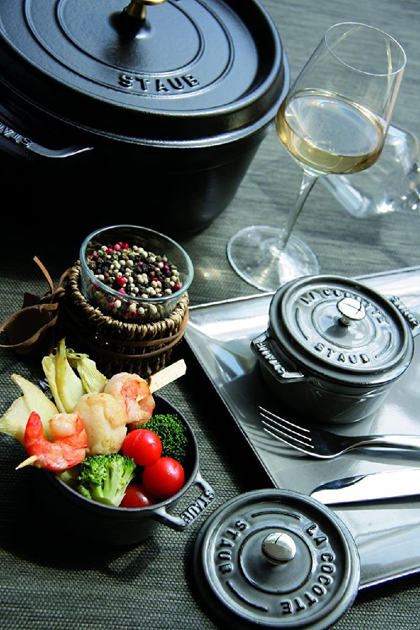 staub(ストウブ)ミニ ピコ ココット ラウンド ブラック 10cm 40500-101の商品画像2
