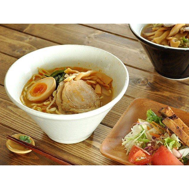 M'home style(エムズホームスタイル) スリムモダンラーメン丼 渋い黒の商品画像