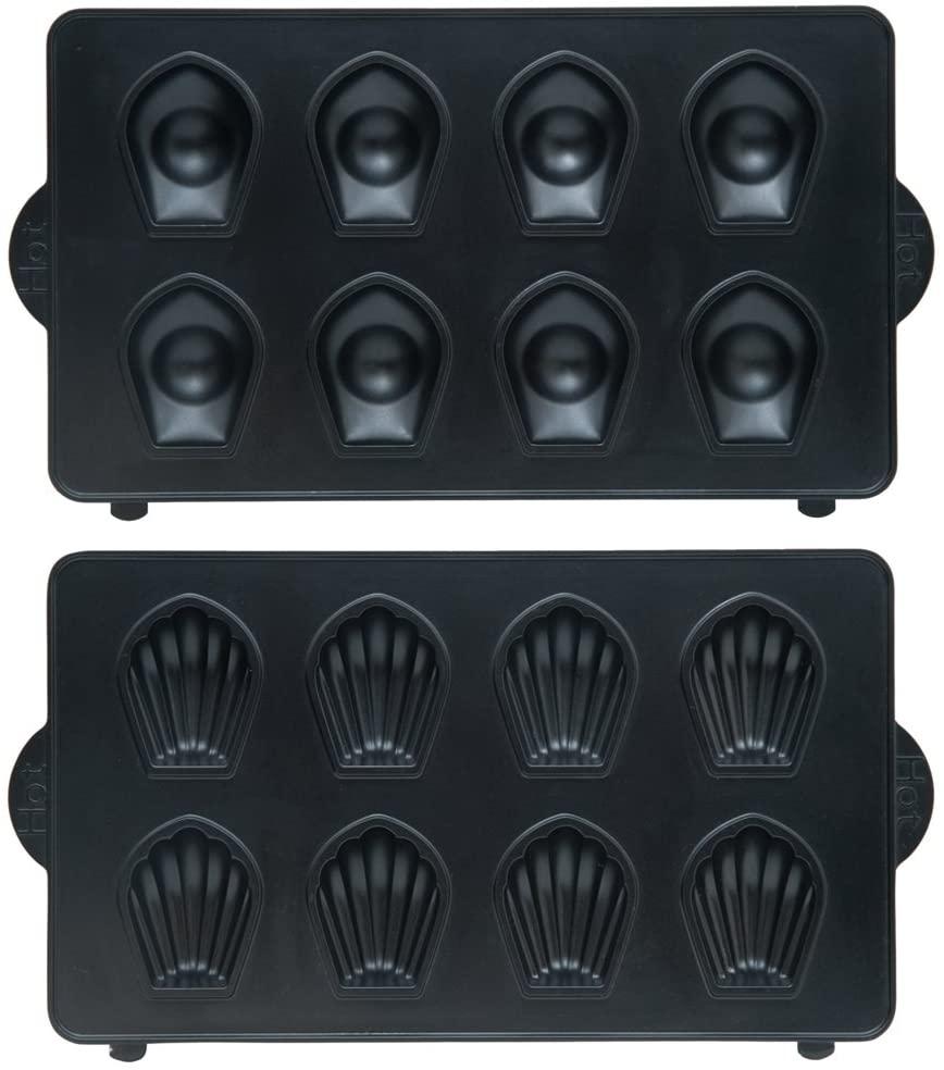 Vitantonio(ビタントニオ)マドレーヌプレート ブラック PVWH-10-MDの商品画像