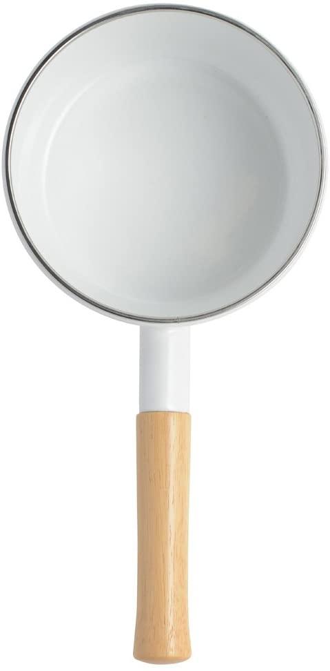 富士ホーロー(FUJIHORO) 2WAY ホーロー 片手 天ぷら鍋 16cm 温度計付きの商品画像2