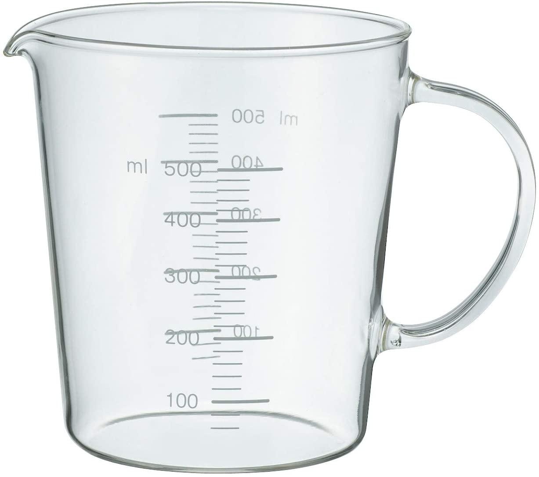 無印良品(MUJI) 耐熱ガラスメジャーカップ 500mlの商品画像