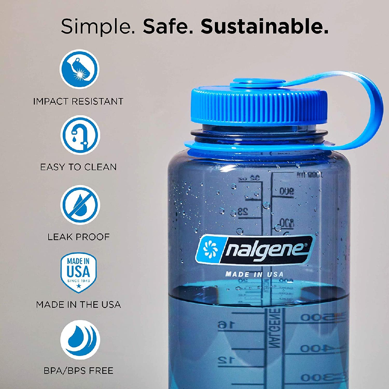 nalgene(ナルゲン) 広口0.5L Tritan スレートブルー 91303の商品画像2