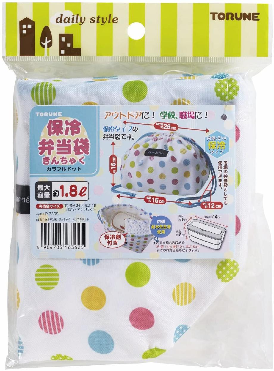 TORUNE(トルネ)保冷巾着袋 カラフルドット P-3309の商品画像2