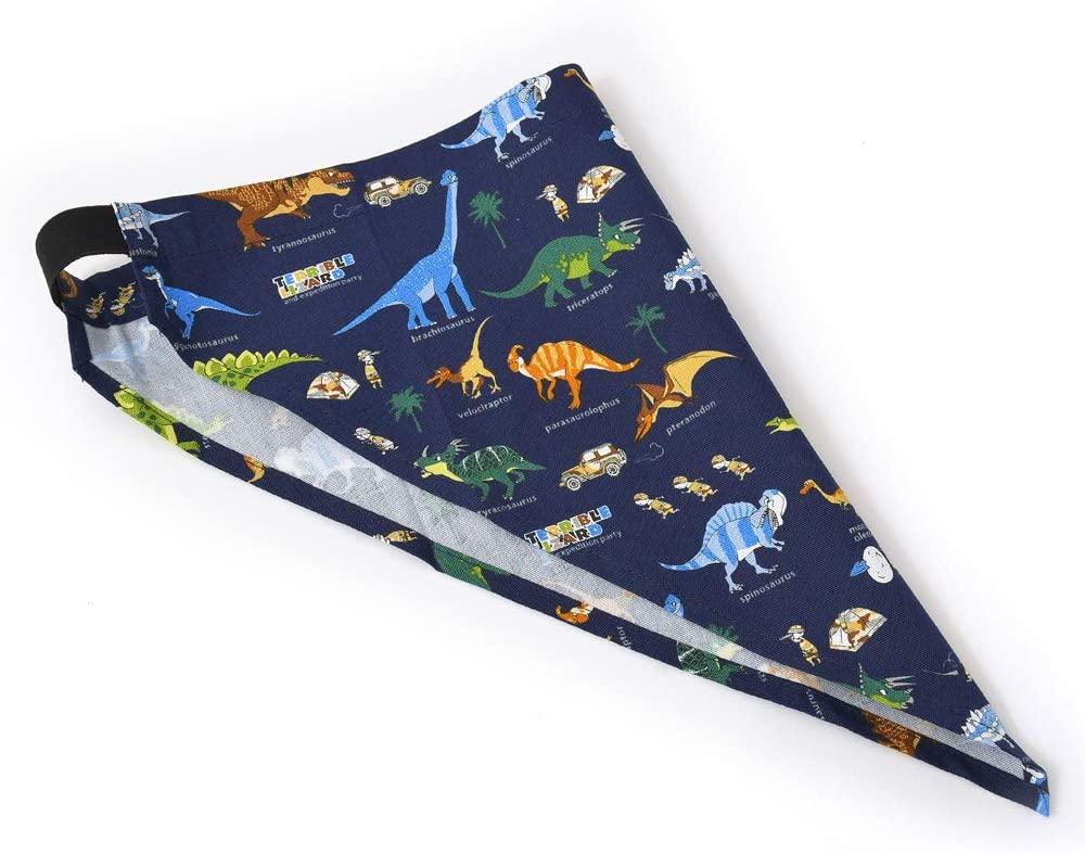 COLORFUL CANDY STYLE(カラフルキャンディースタイル) バッククロス子どもエプロン(100~120cm) 発見!探検!恐竜大陸(ネイビー) N7901410の商品画像4