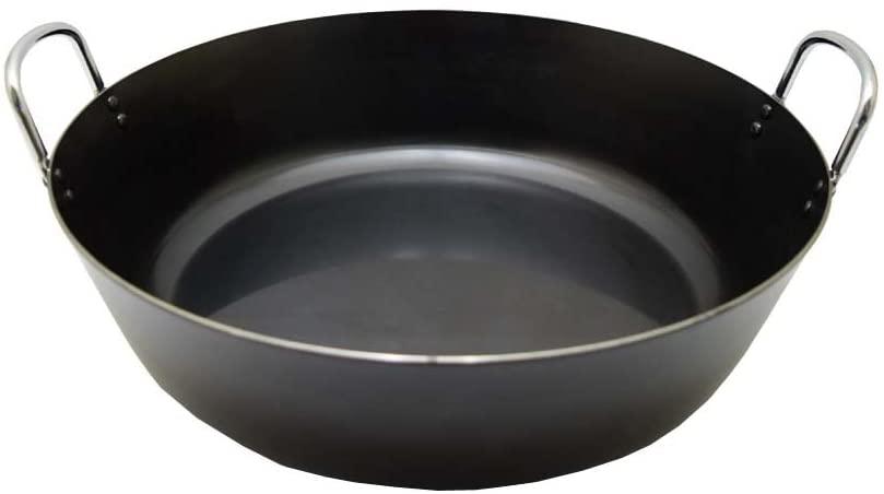 後藤金属工業(テツジン)鉄人シリーズ 「揚げ鍋」 ブラック 39cmの商品画像2