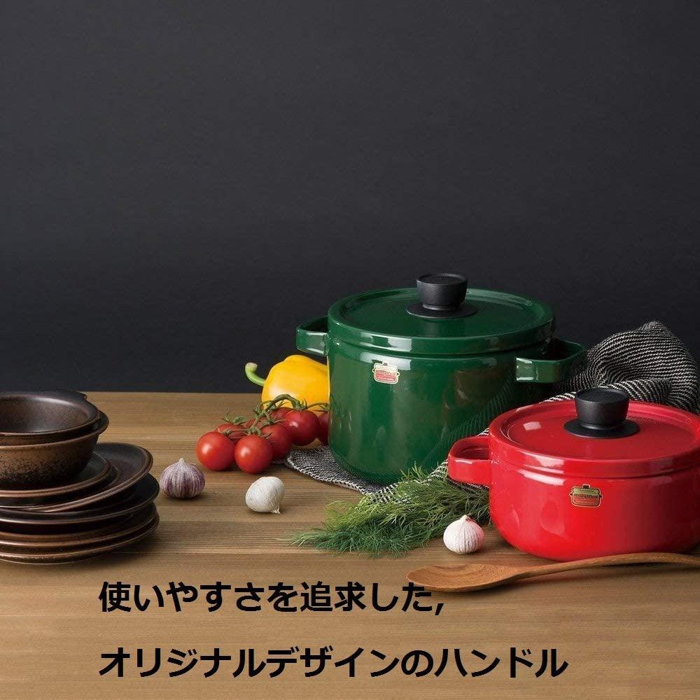 富士ホーロー(FUJIHORO) ソリッドシリーズ 20cm キャセロール  SD-20Wの商品画像2