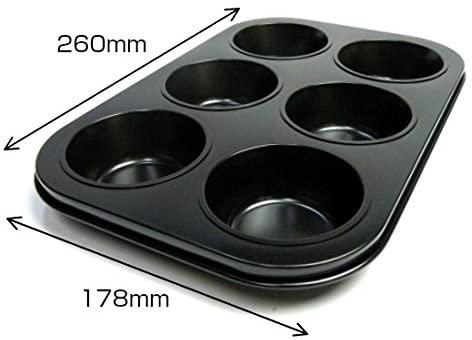 ソラトブフライパンマフィン天板 (マフィン型6ヶ付)ブラックの商品画像3