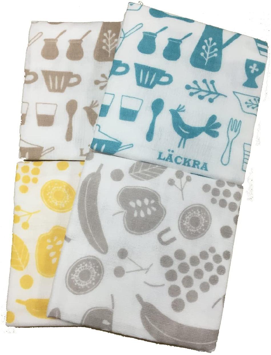 knit kobo .h(ニットコーボー エイチ)6重あわせ大判ガーゼふきん (2柄×2配色)の商品画像