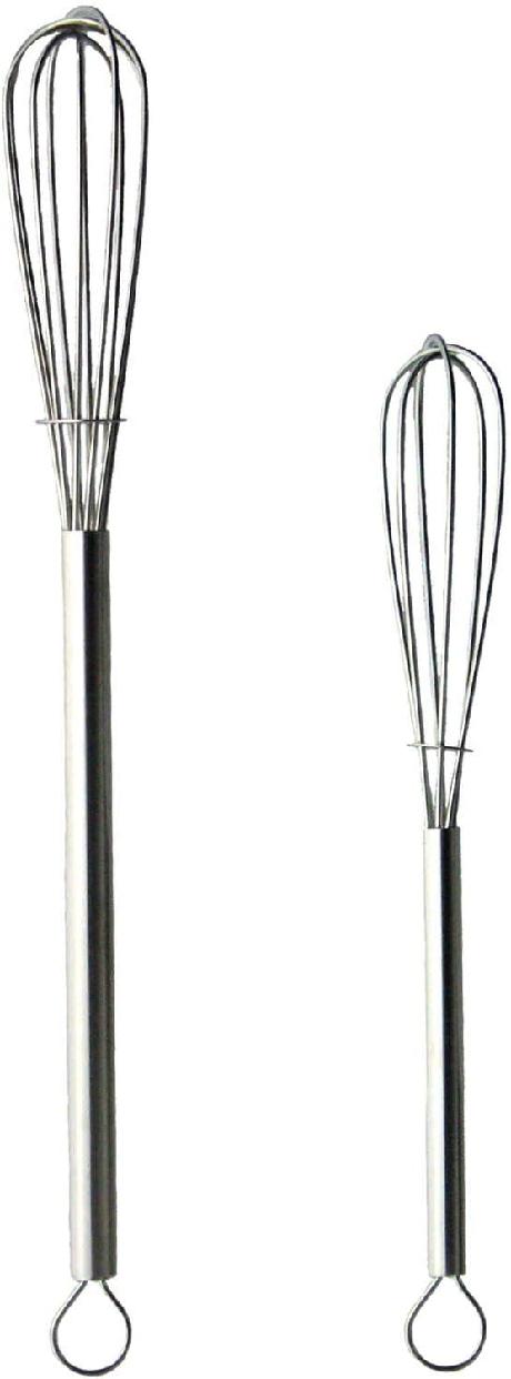 NAGAO(ナガオ) 燕三条 泡立て器 ミニ 2本セット 18-8ステンレス パイプハンドルの商品画像