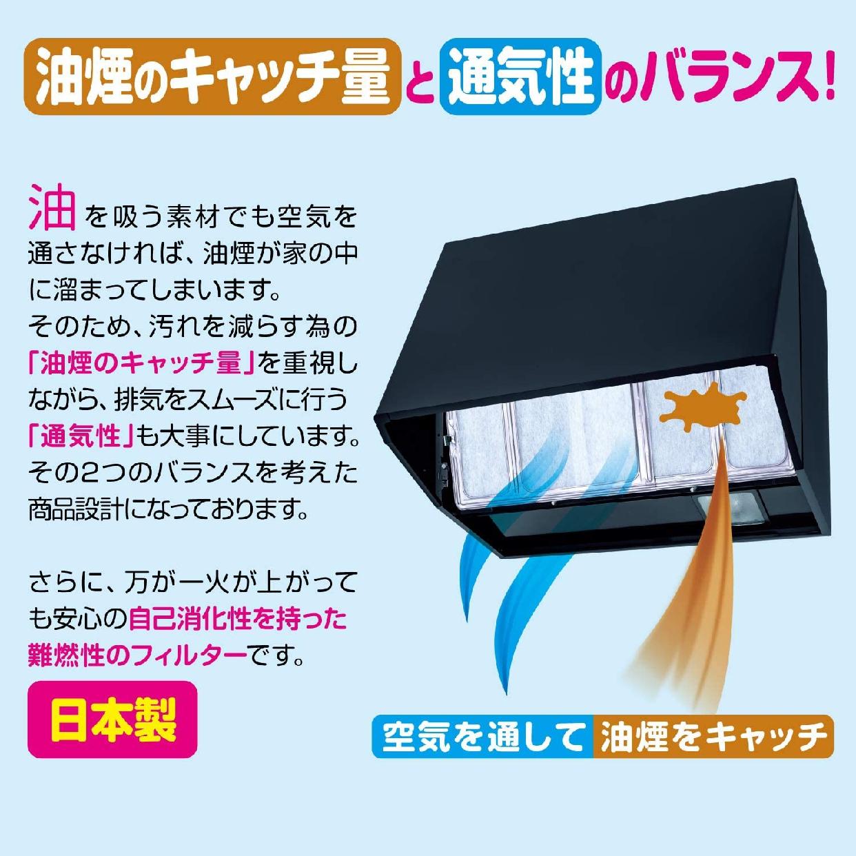 東洋アルミ(トウヨウアルミ)ワンタッチ レンジフードカバー 60~90cm用 1枚入 S2507の商品画像4
