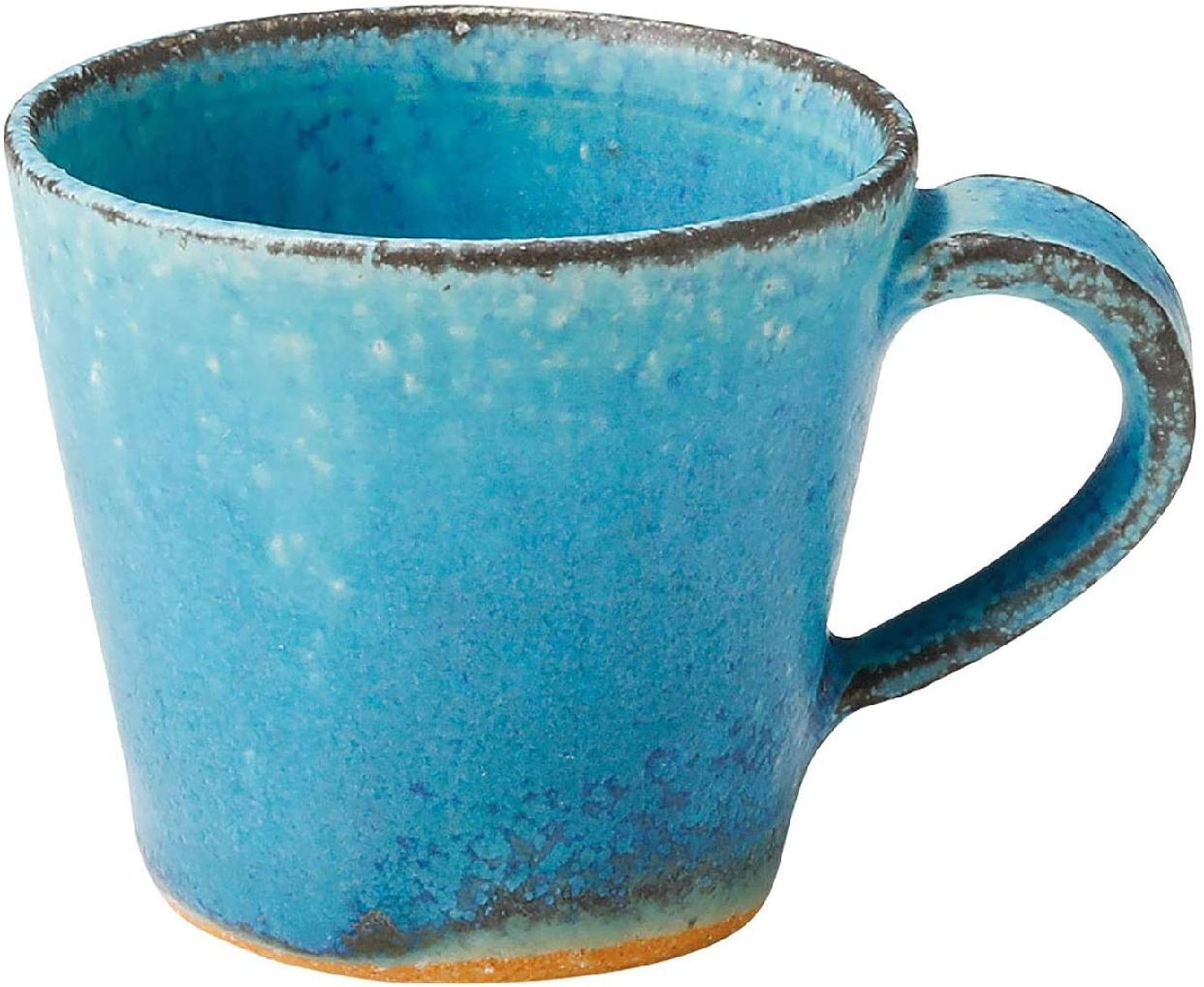丸伊製陶 信楽焼 へちもん エスプレッソカップ 青彩釉の商品画像