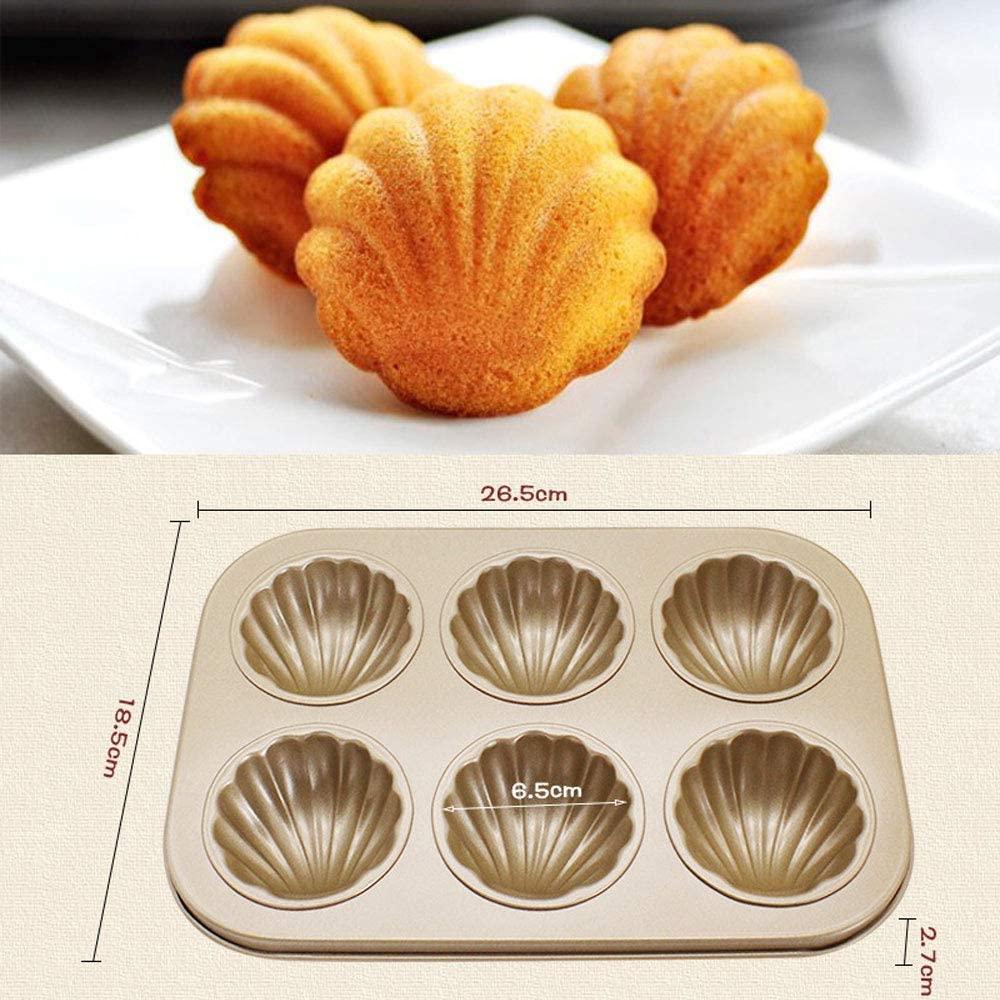 Dream DIY(ドリームディーアイワイ) マドレーヌ型 ケーキ金型 マフィン型 ドーナツ型 6ケ取 お菓子型(3個セットA ブラウンの商品画像8