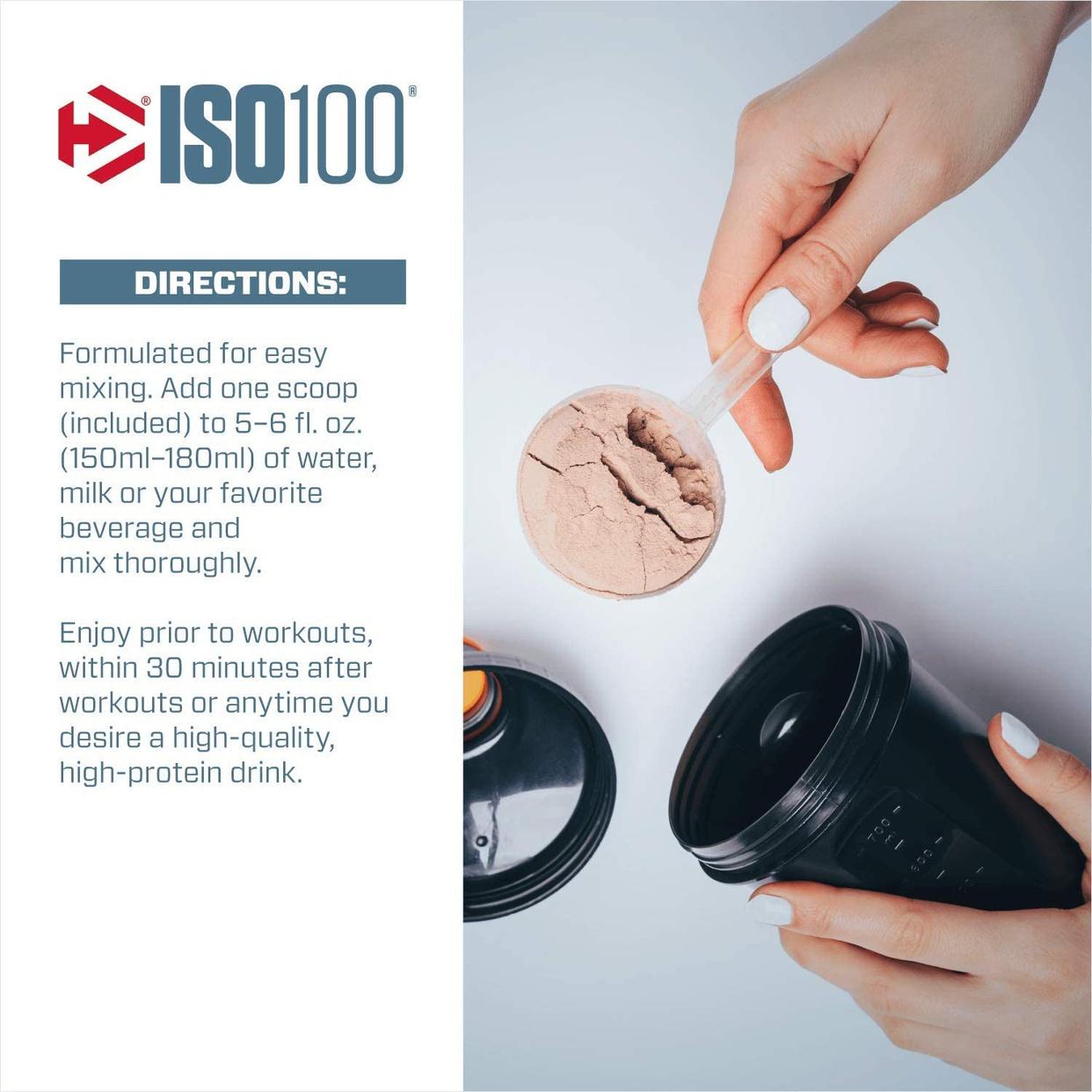 Dymatize(ダイマタイズ) ISO100 ハイドロライズド 100%ホエイアイソレートの商品画像4
