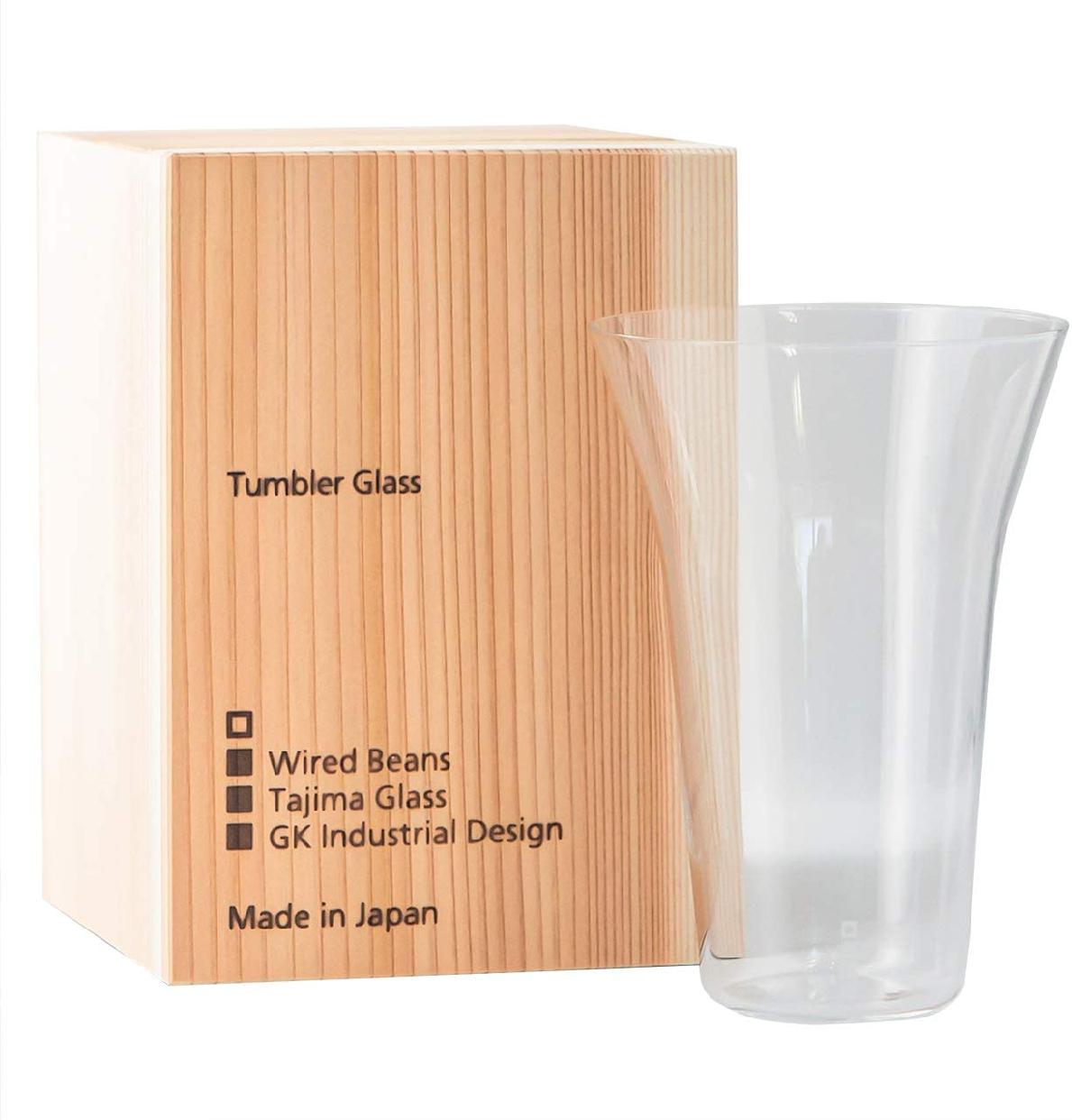 生涯を添い遂げるグラス(しょうがいをそいとげるグラス)タンブラー240 うす吹き トランスペアレント(透明)国産杉箱入りの商品画像
