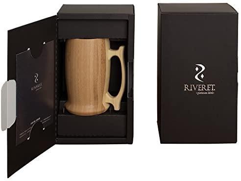 RIVERET(リヴェレット) RV-204B Wbeermug ビアマグ < 単品 ブラウン >の商品画像2