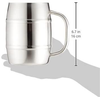 CAPTAIN STAG(キャプテンスタッグ) ビールジョッキ ダブルステンレス 樽型 1.0L UH2001の商品画像6