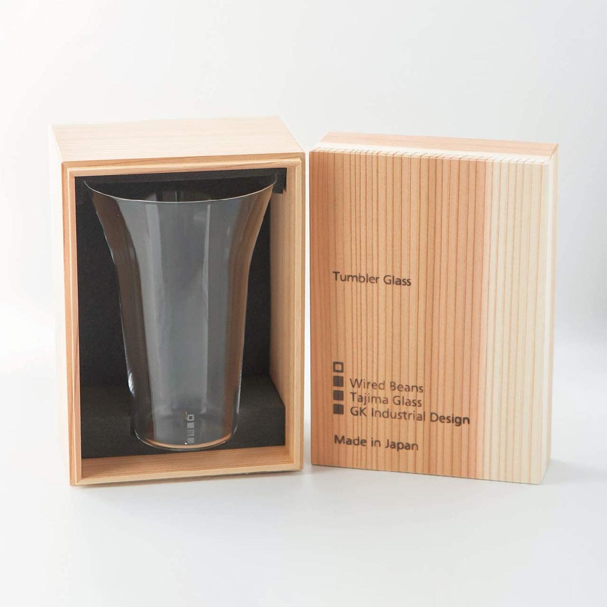 生涯を添い遂げるグラス タンブラー240 うす吹き トランスペアレント(透明)国産杉箱入りの商品画像2