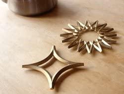 FUTAGAMI(フタガミ) 鍋敷き・星 真鍮色の商品画像2