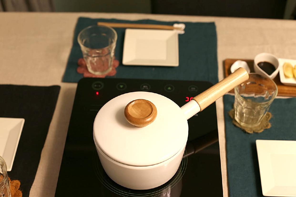 富士ホーロー(FUJIHORO) 2WAY ホーロー 片手 天ぷら鍋 16cm 温度計付きの商品画像6