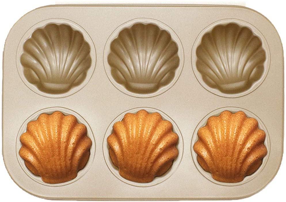 Dream DIY(ドリームディーアイワイ)マドレーヌ型 ケーキ金型 マフィン型 ドーナツ型 6ケ取 お菓子型(3個セットA ブラウンの商品画像7