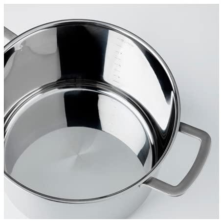 IKEA 365+(イケア 365プラス)スープ鍋 ふた付 シルバー 102.567.45の商品画像3