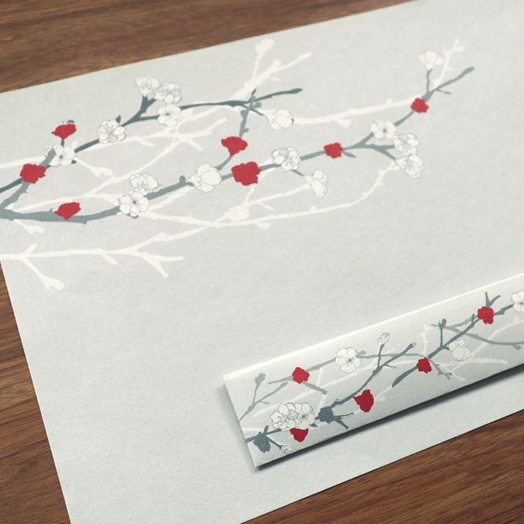 medetaya modern(メデタヤモダン)UME 箸包み(梅 3膳入)24.5 cmの商品画像3