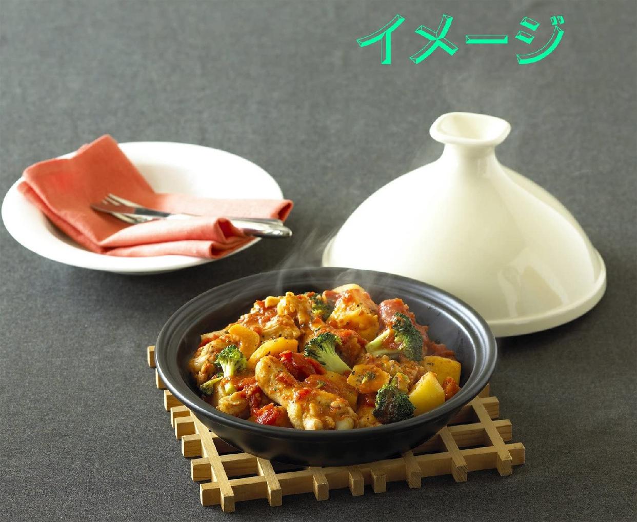 Cooking Plus(クッキングプラス) タジン鍋 (M) 21cm レッドの商品画像3