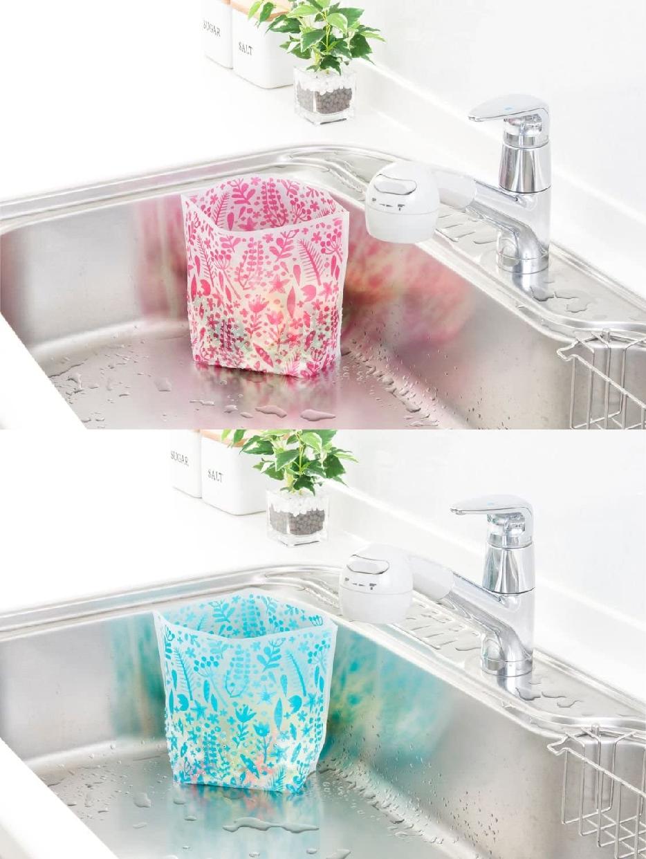 カワタキコーポレーション らくらっくー 自立型水切りゴミ袋 80枚入の商品画像2