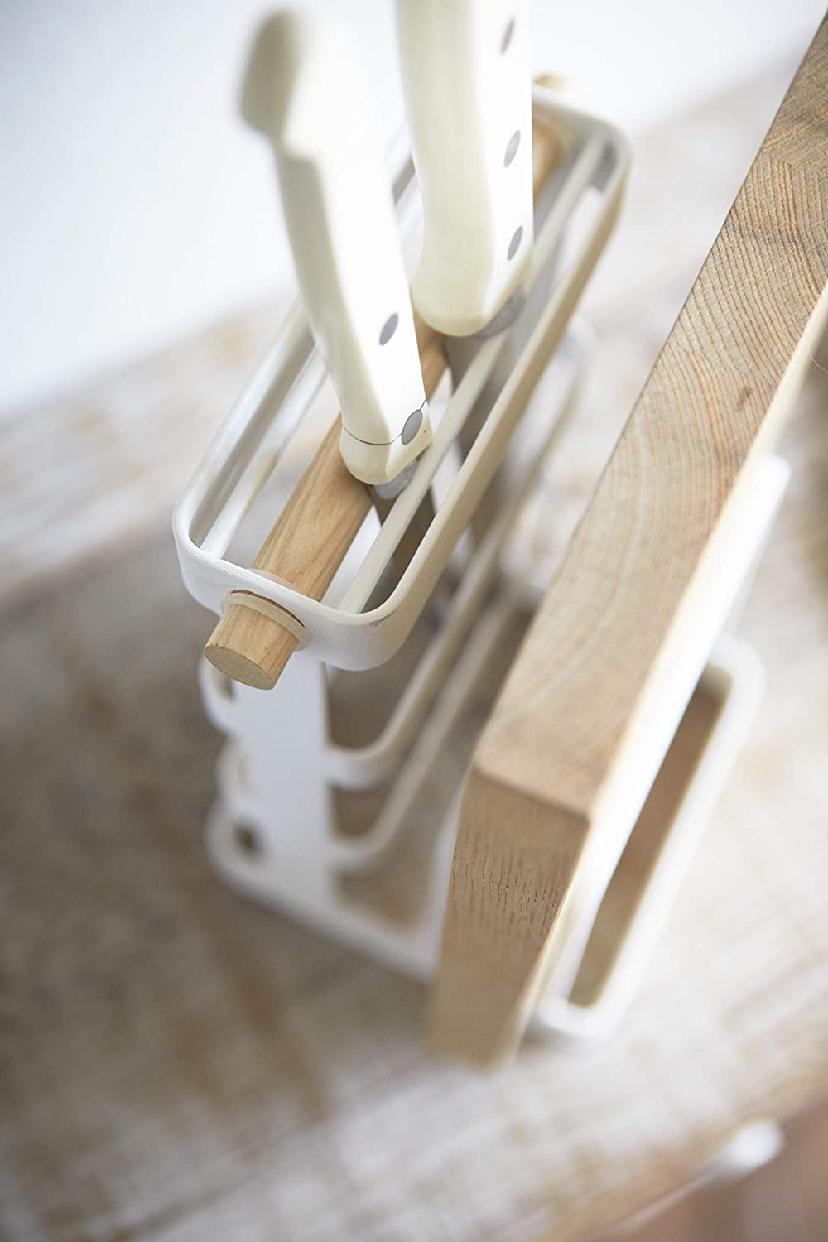 山崎実業(Yamazaki) 包丁&まな板スタンド トスカ ホワイト 2421の商品画像6