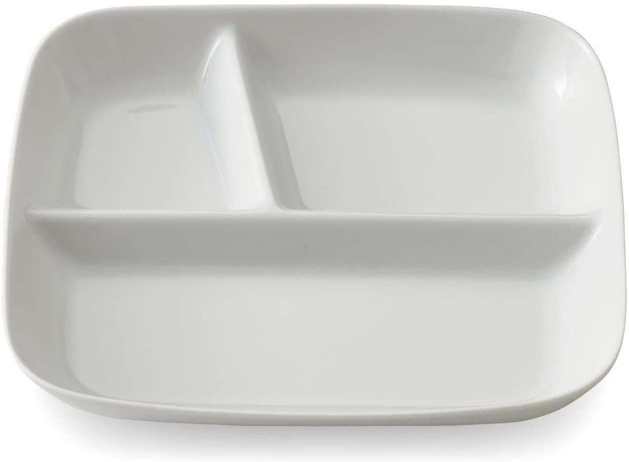 BELLE MAISON DAYS(ベルメゾンデイズ) 深めですくいやすいランチプレート ホワイトの商品画像