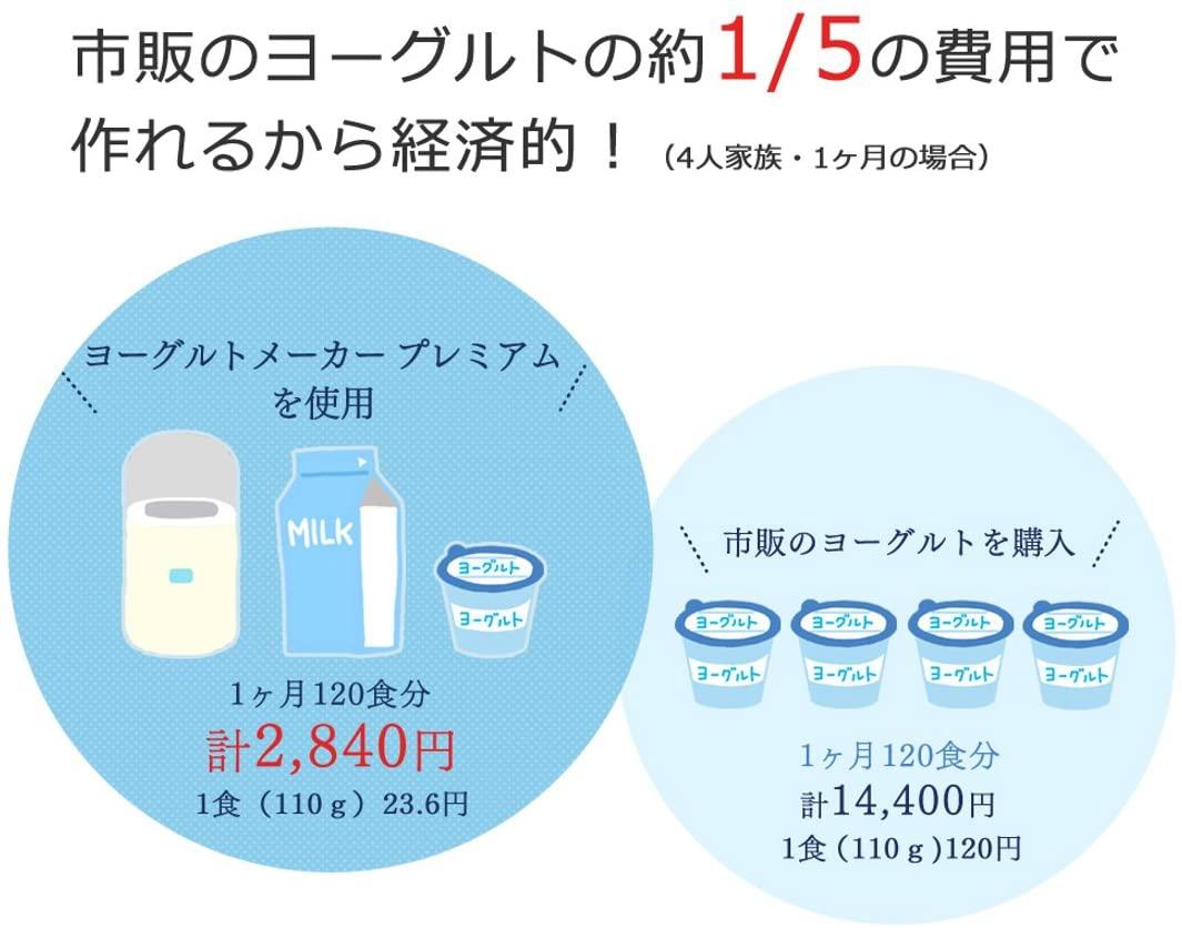 IRIS OHYAMA(アイリスオーヤマ)ヨーグルトメーカー プレミアム IYM-012の商品画像3