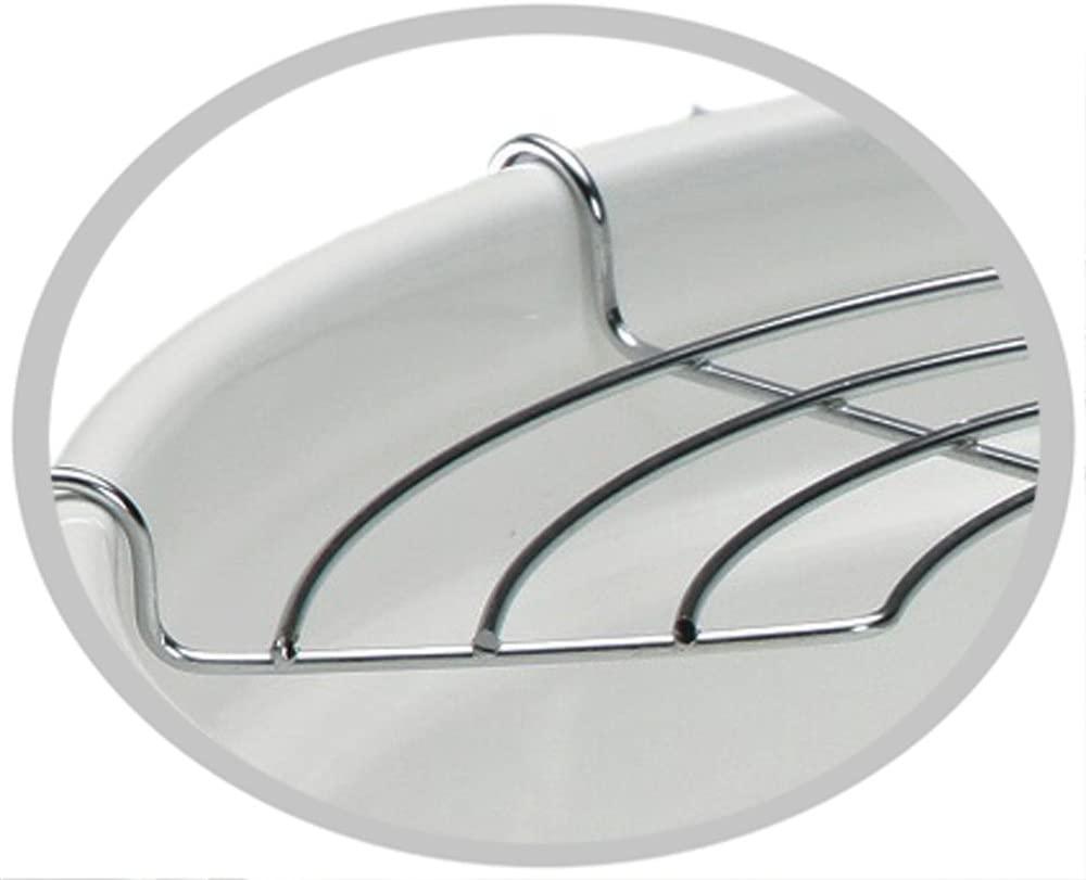 高木金属(タカギキンゾク) ホーロー天ぷら鍋 24cm ブラック&ホワイト TP-24R-BWの商品画像2