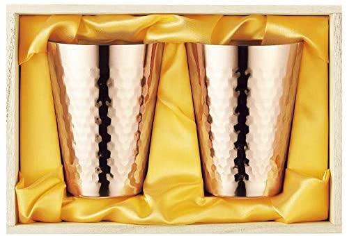 食楽工房(ショクラクコウボウ) 純銅タンブラー 350ml 2PCS桐箱 ゴールド CNE974の商品画像